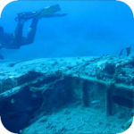 Messerschmitt Bf 109 on the seabed in Anissara