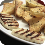 Grilled halloumi cheese (Χαλούμι)