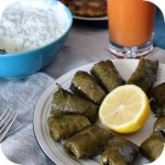 Dolmades - stuffed grape leaves