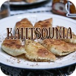 Kalitsounia with cheese and honey