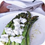 Asparagus with feta cheese