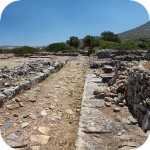 Roussolakos - ruins of the Minoan city next to Palekastro