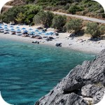Beach in Souda in the south of Crete