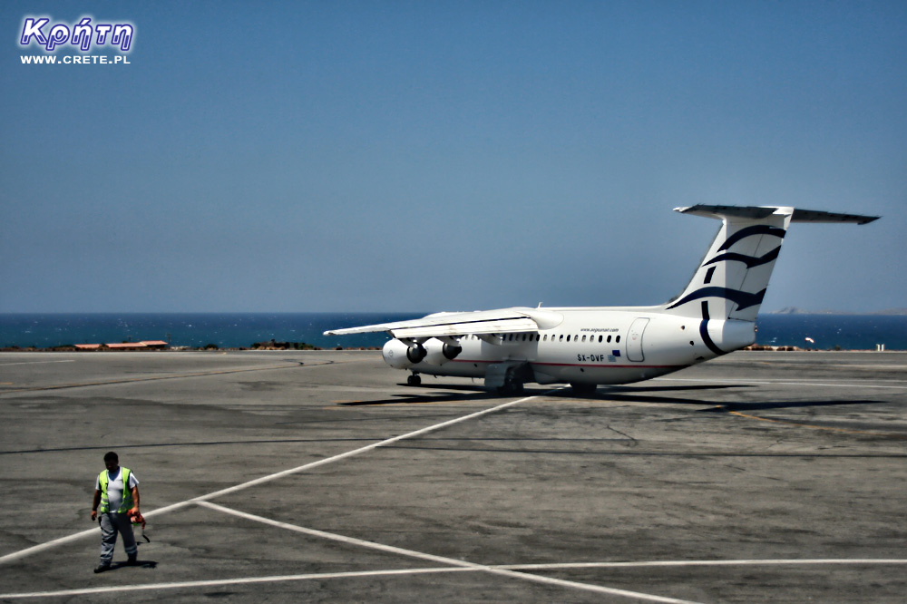 Avro Rj-100 aircraft in Aegean Airlines colors