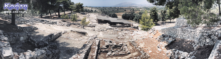 Agia Triada - panorama of excavations