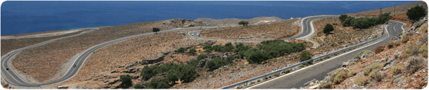 Panorama of the road to Hora Sfakion