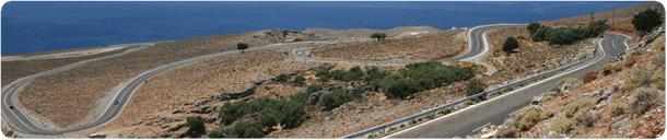 Panorama der Straße nach Hora Sfakion