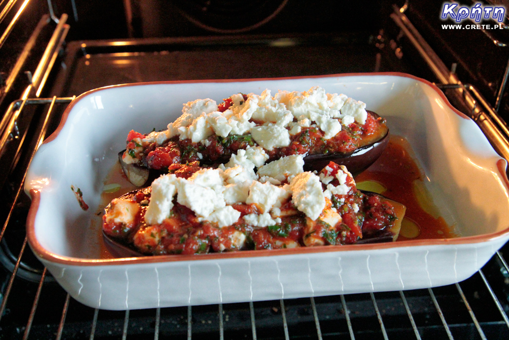 Eggplant with feta cheese