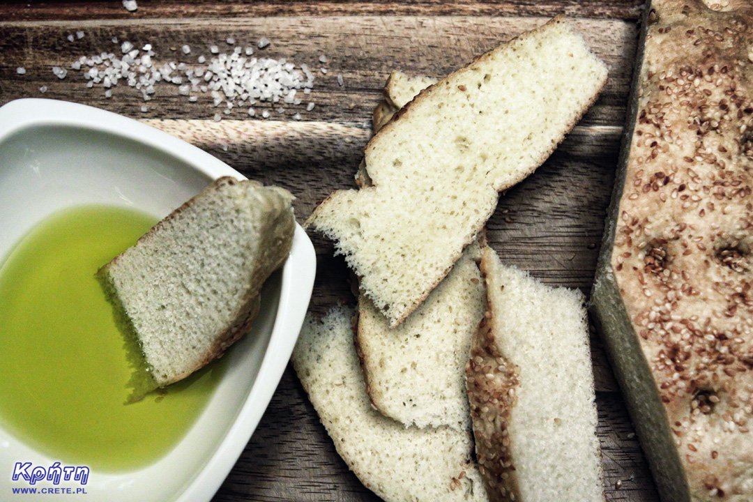 Olive oil with lagana bread