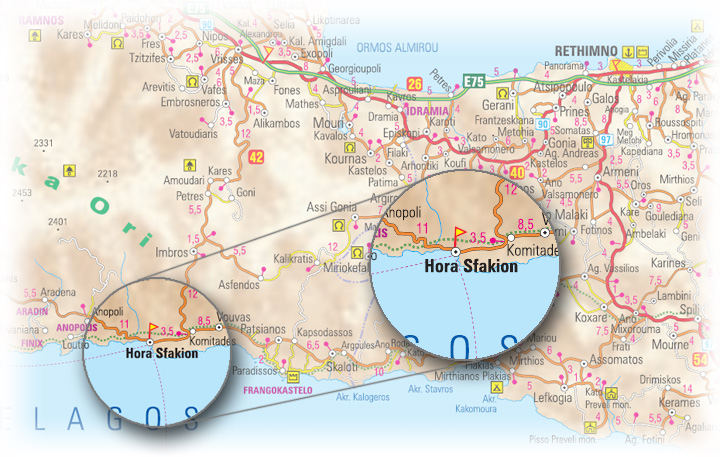 Chora Sfakion - location and access map