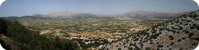 A view of the Lasithi Plateau