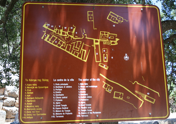 Plan of the ancient LATO city