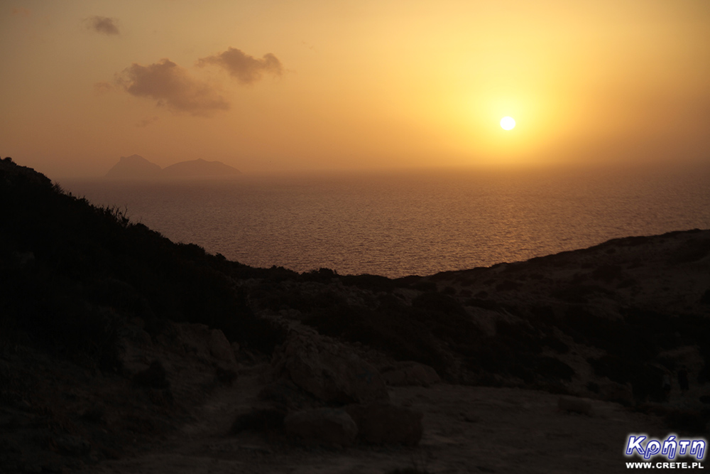 Sunset in Matala