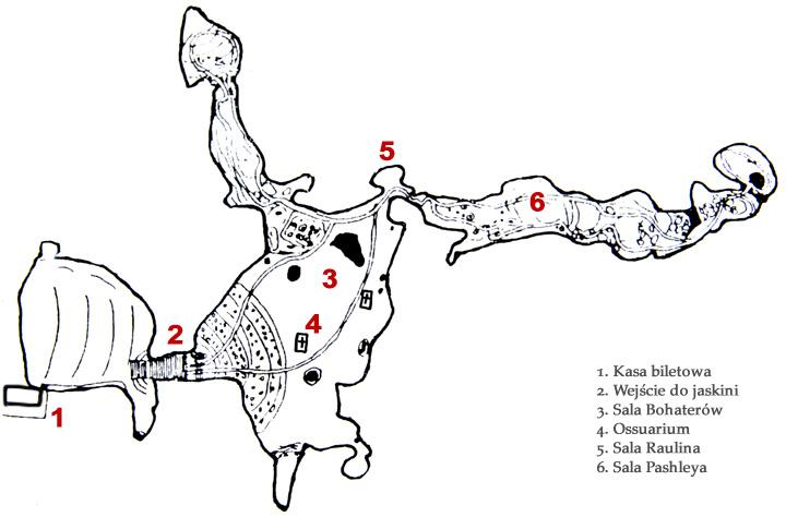 Melidoni - plan jaskini