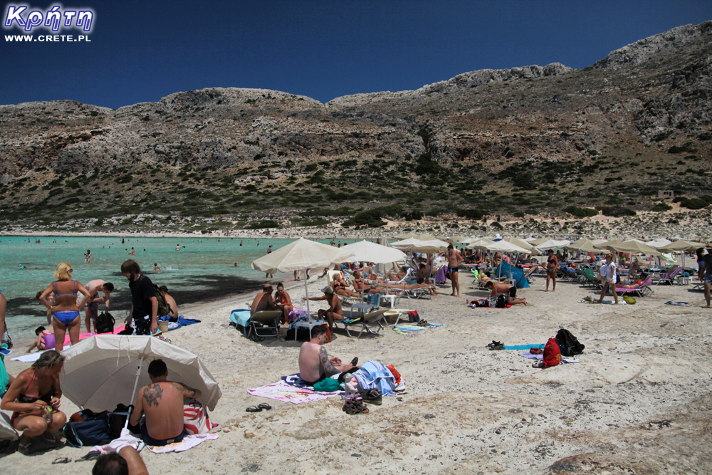 Tourists on Balos
