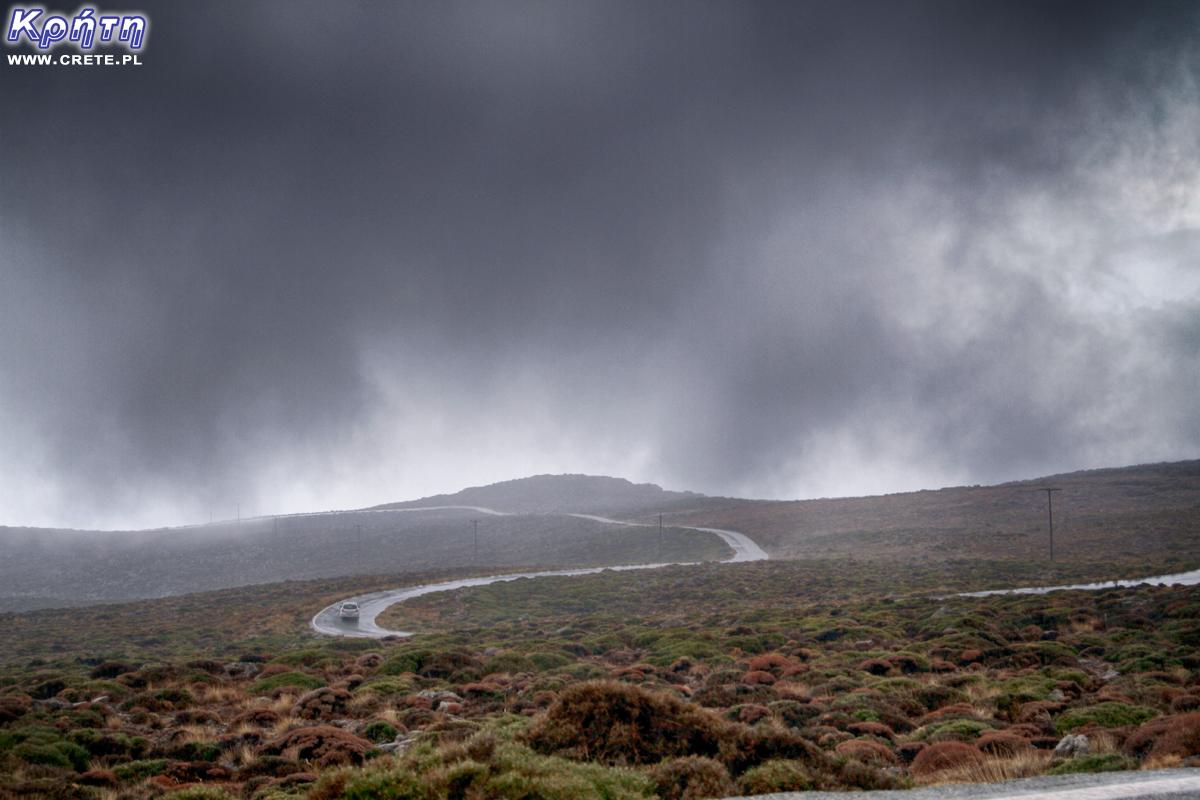 Deszcz na Krecie