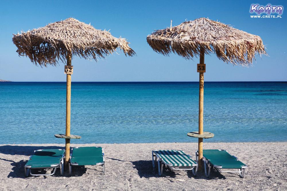 Leżaki na plaży Elafonisi