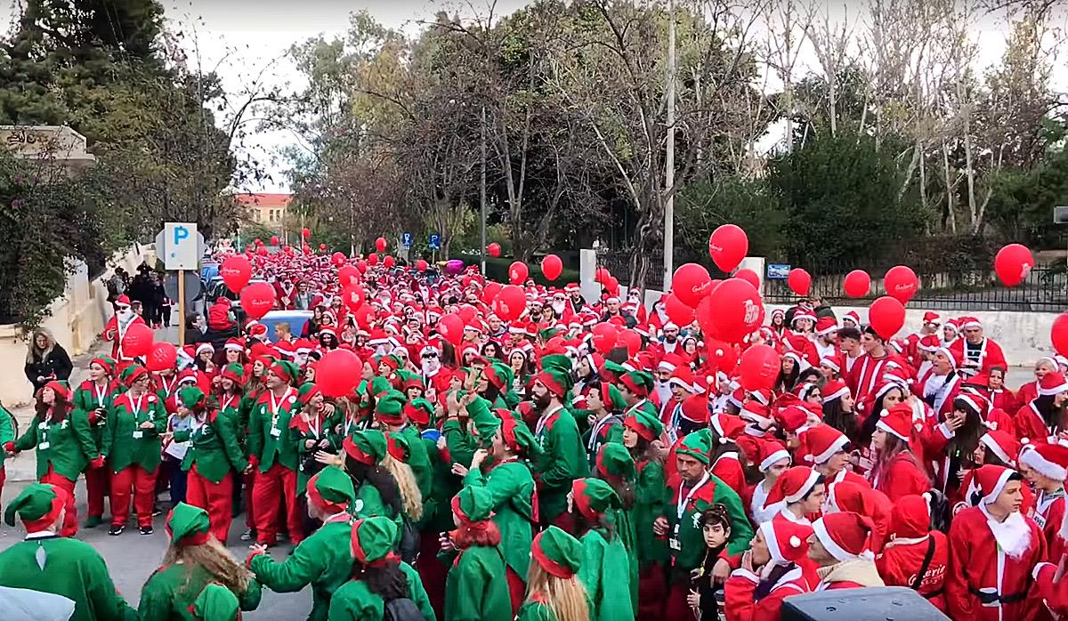 Santa Run in Chania