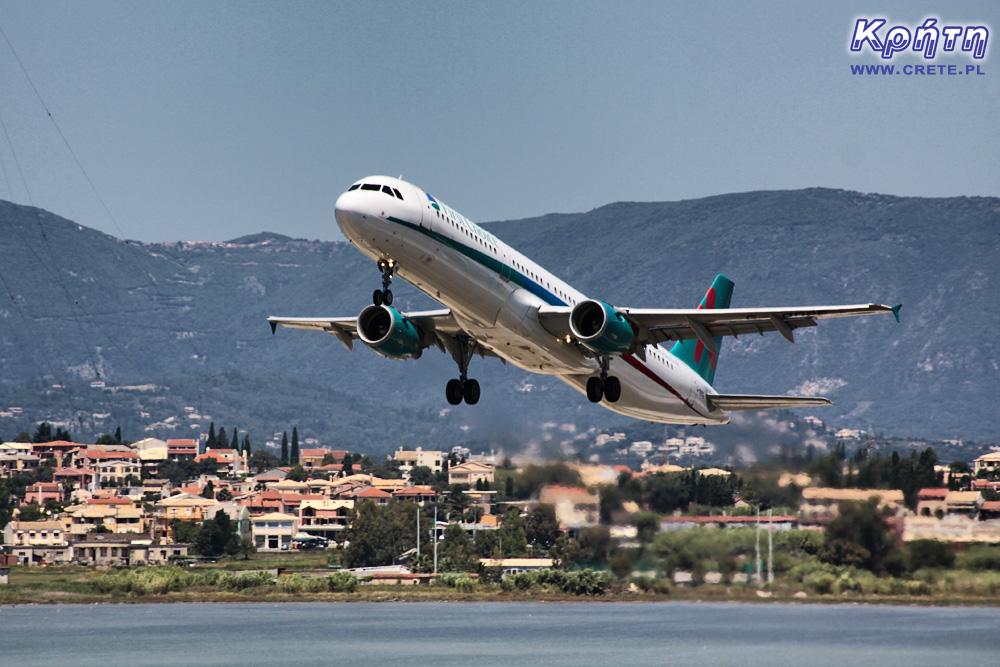 Start samolotu w Grecji