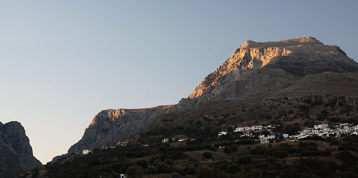 Panorama of the mountains from the plakias - on the left side you can see the Kotsifou gorge