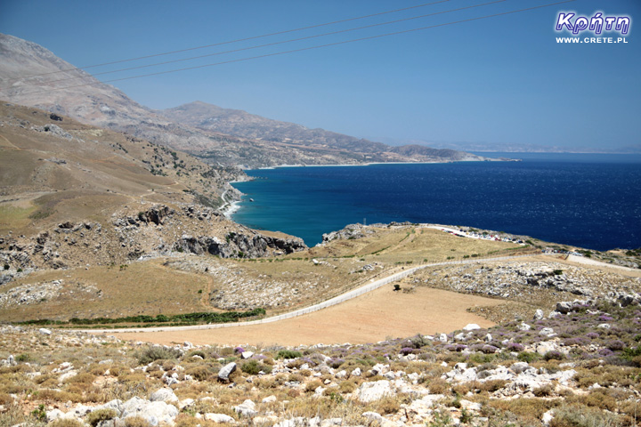 Preveli beach view from above