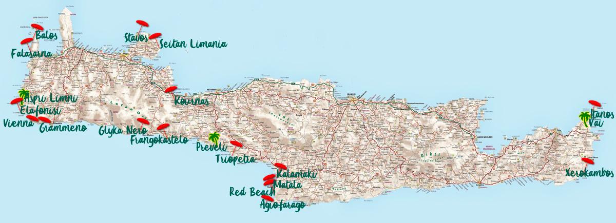 Kreta Top 20 Beaches In Crete What To See In Crete Crete Pl