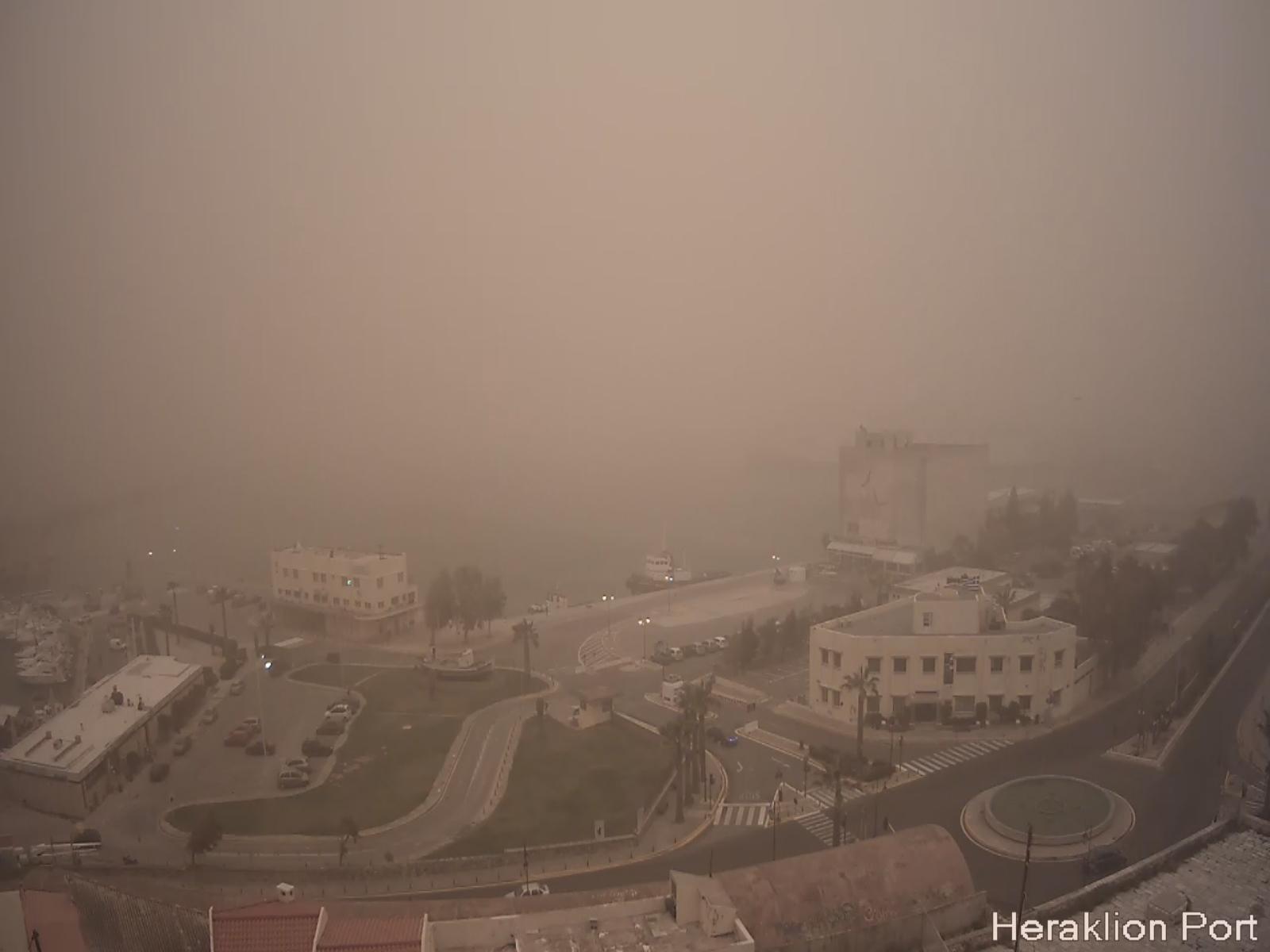 African dust over Crete