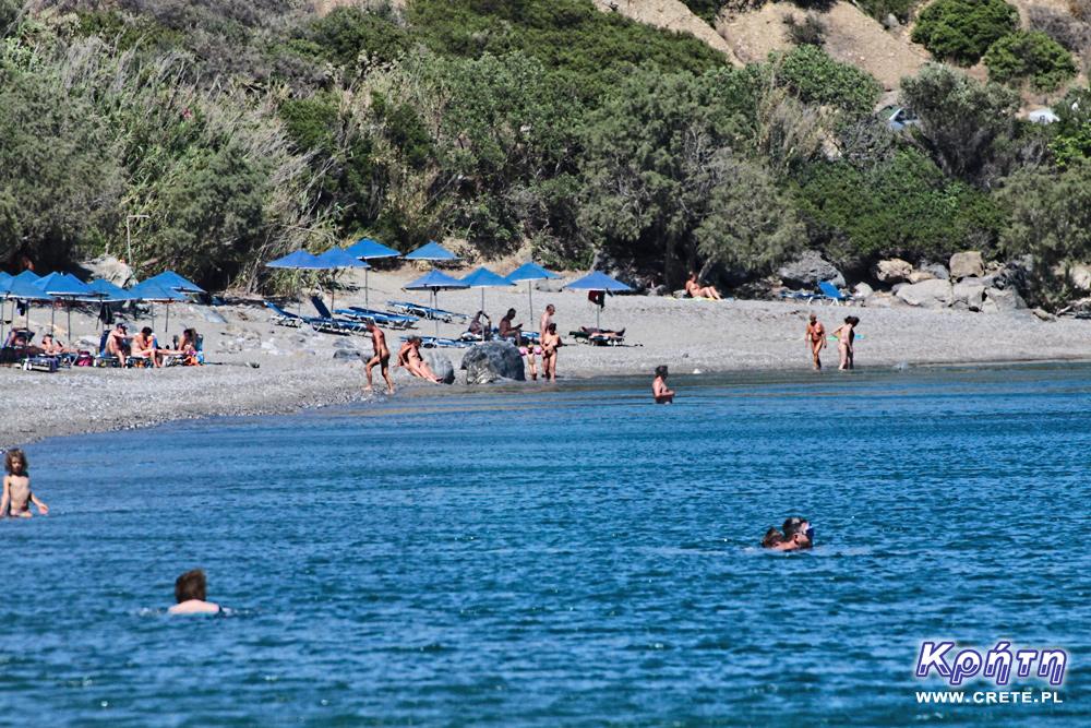 Nudists on the beach of Souda