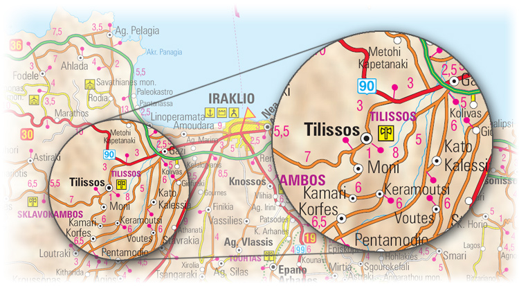 Access map to Tylissos